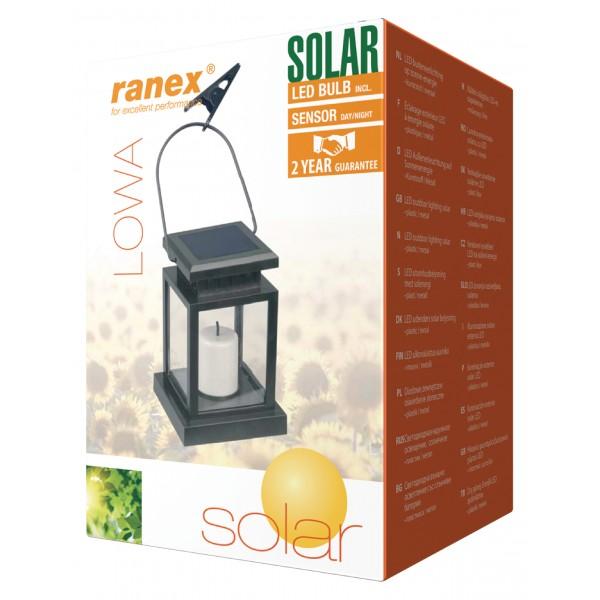 Lanterne led avec panneau solaire for Lanterne exterieur led