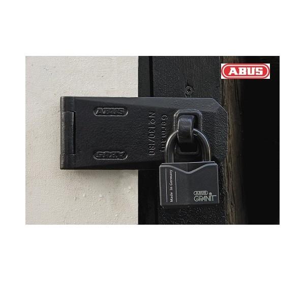 Porte cadenas en acier abus 130 180 - Cadenas pour porte de garage ...