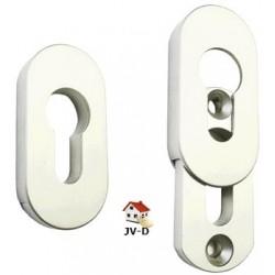 Rosace 9 mm pour porte métal et PVC