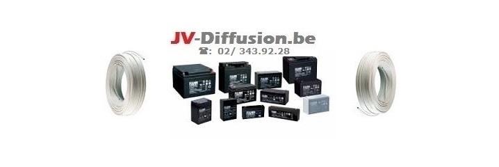 Cablages et Batteries pour alarmes